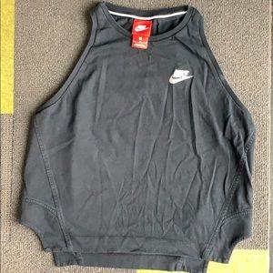 Nike Just Do It cropped black tank Medium